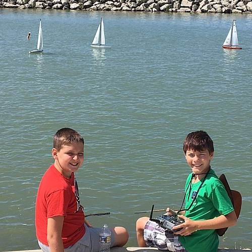 Learning to sail on Lake Erie!